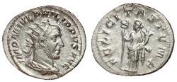 Ancient Coins - Philip I, 244 - 249 AD, Silver Antoninianus, Felicitas