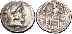 Ancient Coins - Kingdom of Macedonia, Alexander III, 336 - 323 BC, Silver Tetradrachm, Myriandros or Issos Mint