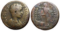 Ancient Coins - Geta, as Caesar, 193 - 209 AD, AE25, Phrygia, Otrus Mint, Very Rare