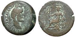 Ancient Coins - Antoninus Pius, 138 - 161 AD, Drachm of Alexandria, Roma Seated