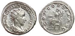 Ancient Coins - Gordian III, 238 - 244 AD, Silver Antoninianus, Concordia, Antioch Mint