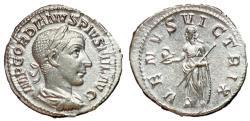 Ancient Coins - Gordian III, 238 - 244 AD, Silver Denarius, Venus Victrix