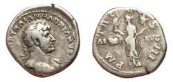 Ancient Coins - Hadrian, 117 - 138 AD, Silver Denarius, Aeternitas Holding Heads