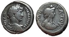Ancient Coins - Hadrian, 117 - 138 AD, Tetradrachm of Alexandria with Isis, Very Rare