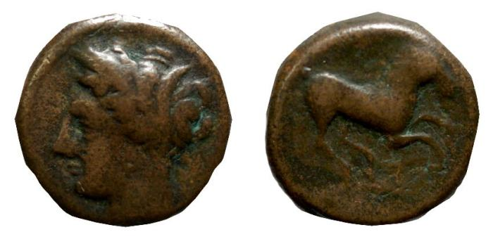 Ancient Coins - Sicily, Siculo-Punic, 370 - 340 BC