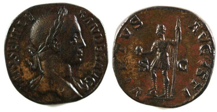 Ancient Coins - Severus Alexander, 222 - 235 AD, Sestertius
