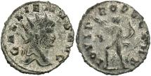 Ancient Coins - Gallienus, 253 - 268 AD, Antoninianus, Jupiter, Silvered