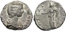 Ancient Coins - Julia Domna, 193 - 211 AD, Silver Denarius, Vesta, Laodicea Mint