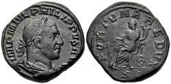 Ancient Coins - Philip I, 244 - 249 AD, Sestertius, Fortuna