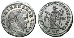 Ancient Coins - Galerius, as Caesar, 293 - 305 AD, Follis of Aquileia, Moneta, Nice EF