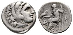 Ancient Coins - Kings of Macedon, Antigonos I Monophthalmos, 320 - 301 BC, Silver Drachm, Lampsakos Mint