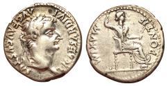 Ancient Coins - Tiberius, 14 - 37 AD, Silver Denarius, Livia