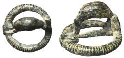 Ancient Coins - Celt-Iberia, 3rd - 2nd Century AD, AE Fibula, Unique Penannular Form