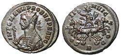 Ancient Coins - Probus, 276 - 281 AD, Antoninianus of Rome, Facing Quadriga