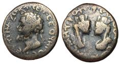 Ancient Coins - Septimius Severus, 193 - 211 AD, AE27, Samosata Mint, Confronting Busts of Tyche