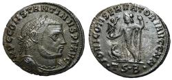 Ancient Coins - Constantine I, 307 - 337 AD, Follis of Thessalonica, Jupiter