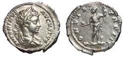 Ancient Coins - Caracalla, 198 - 217 AD, Silver Denarius, Sol