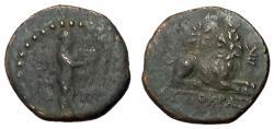 Ancient Coins - Ionia, Miletos, 200 BC, AE Hemiobol, Rare