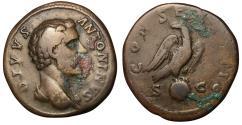 Ancient Coins - Divus Antoninus Pius, 161 AD, Sestertius, Eagle