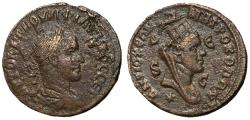 Ancient Coins - Philip II, 247 - 249 AD, 8 Assaria of Antioch, Tyche