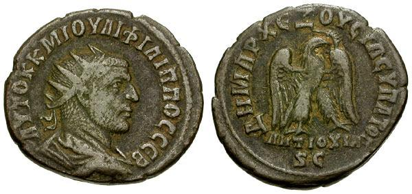 Ancient Coins - Philip I, 244 - 249 AD, Tetradrachm of Antioch
