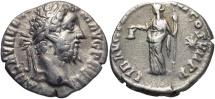 Ancient Coins - Commodus, 177 - 192 AD, Silver Denarius, Liberalitas