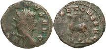 Ancient Coins - Gallienus, 253 - 268 AD, Antoninianus, Goat or Stag