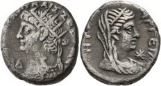 Ancient Coins - Nero, 54 - 68 AD, Tetradrachm of Alexandria, Hera, Toned VF