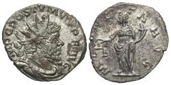 Ancient Coins - Postumus, 260 - 269 AD, Billon Antoninianus, Moneta, Treveri Mint
