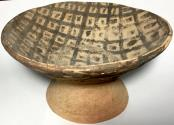 Ancient Coins - Neolithic Period, 5,000 - 2,700 BC, Painted Pedestal Dish