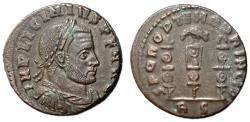 Ancient Coins - Licinius I, 308 - 324 AD, Follis of Rome, Legionary Eagle, Very Rare