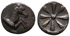 Ancient Coins - Aeolis, Kyme, 6th Century BC, Silver Hemiobol