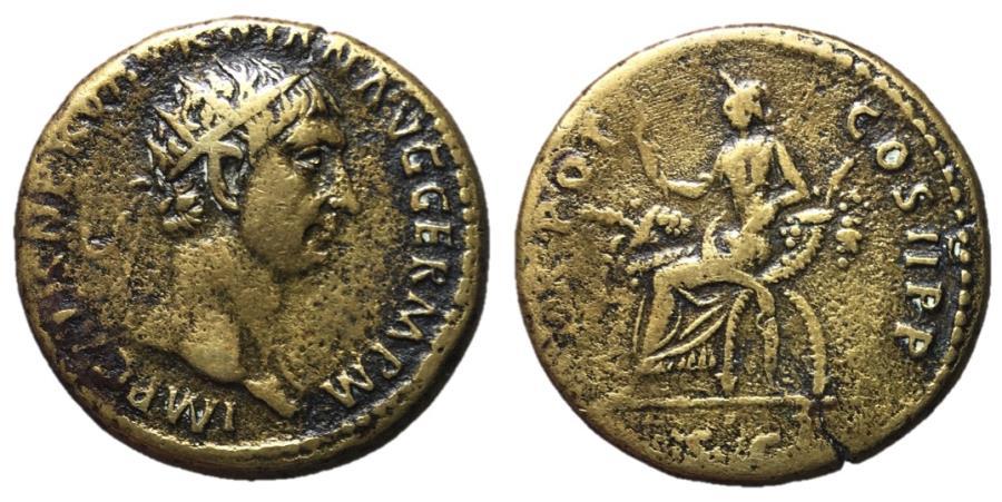 Ancient Coins - Trajan, 98 - 117 AD, Dupondius, Abundantia