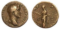 Ancient Coins - Antoninus Pius, 138 - 161 AD, AE As, Pietas