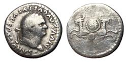 Ancient Coins - Divus Vespasian, Issue by Titus, 80 - 81 AD, Two Capricorns