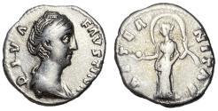 Ancient Coins - Diva Faustina Sr., Silver Denarius, Aeternitas