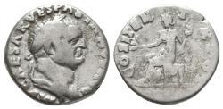 Ancient Coins - Vespasian, 69 - 79 AD, Silver Denarius, Pax