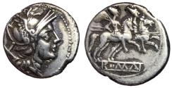 Ancient Coins - Anonymous, after 211 BC, Silver Denarius