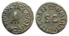 Ancient Coins - Claudius I, 41 - 54 AD, AE Quadrans