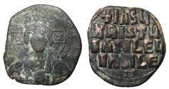 Ancient Coins - Reign of Romanus II & Constantine VIII, 1025 - 1028 AD, Christ Follis