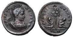 Ancient Coins - Crispus, 316 - 326 AD, Follis of London, Exceptional Patina