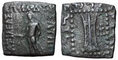 Ancient Coins - Baktrian Kingdom, Apollodotos II, 85 - 65 BC, Square Unit