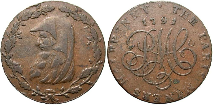 World Coins - Anglesey, Halfpenny Token 1791, D&H396