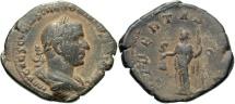 Ancient Coins - Trebonianus Gallus, 251 - 253 AD, Sestertius, Libertas