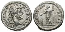 Ancient Coins - Septimius Severus, 193 - 211 AD, Silver Denarius, Septimius as Restorer of the World