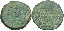 Ancient Coins - Augustus, 27 BC - 14 AD, AE As, Spain, Corduba