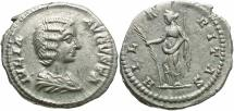 Ancient Coins - Julia Domna, Issue by Septimius Severus, 193 - 211 AD, Silver Denarius, Hilaritas