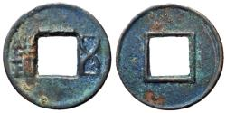 Ancient Coins - H8.8.  Western Han Dynasty, Emperor Wu Di, 113 - 87 BC, AE 5 Zhu, Rim Above