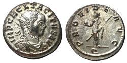 Ancient Coins - Tacitus, 275 - 276 AD, Antoninianus of Ticunum, Providentia, EF