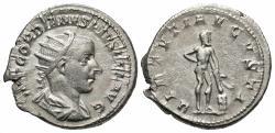 Ancient Coins - Gordian III, 238 - 244 AD, Silver Antoninianus, Hercules